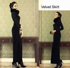 NEW Velvet Skirt Maxi Skirt Long Skirt XS~3XL #GF0685