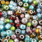 Wholesale Large Hole 5mm Murano Lampwork Glass European Charm Bead Fits Bracelet