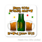 Personalised Beer Bottle Happy Birthday Wooden Gift Coaster Mat Dad Grandad