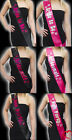 Hen Party Bride to Be, Bridesmaid Luxury Sashes Pink Black Hen Night Accessories