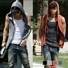 Mens Beach sport Casual Slim Fit Hoody sleeveless T-shirt Vest Tops E722 4color