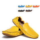 US6-9 Leather Casual SLIP-ON driving cars Loafers fashion mens boat shoes  [JG]
