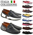 Mens Designer Loafers Leather Look Italian Driving Shoes Slip On Gents Shoes