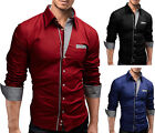 New Mens Collection Stylish Sexy Formal Casual Slim-Fit Dress Shirt-BSS