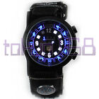 TVG Zodiac Blue/White Flash LED Waterproof Watch with Compass NEW ~tokyo168