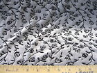 Discount Fabric Sculptured Stretch Velvet Silver Black Burnout Floral 201VE