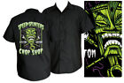 Steady SPEED N SLINTERS TIKI custom kulture chop shop Mens work Shirt hot rod