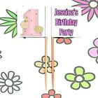 24 Personalised 1st Birthday Cupcake Party Pick BOY GIRL Food Flag Toppers Cake