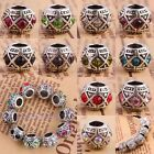 Wholesale Crystal Rhinestone Rondelle Barrel European Beads Fits Charms Bracelet