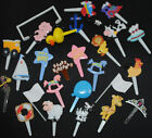 Complete range of cake picks toppers transport princess pick topper decoration