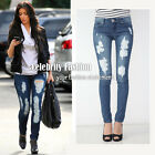 jn3 Celebrity Style Low-rise Destroyed Ripped Skinny Jeans