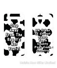 Personalised Luggage Suitcase Tag Cow Print Step Away From Bag Back Off Funny