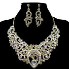 HOT Swarovski Crystal Wedding Party Bridal Necklace Earring Jewelry Full Set New