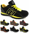 NEW MENS LADIES WORK SAFETY TRAINERS STEEL TOE CAP BOOT TRAINER SHOES SZ 3-13