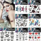 17Styles Gothic Sexy Temporary Tattoo Stickers  Party Fancy Body Art  Makeup