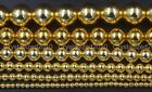 Natural Hematite Gemstone Round Ball Beads Gold 2mm 3mm 4mm 6mm 8mm 10mm 16''