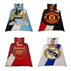 FOOTBALL CLUB SINGLE DUVET COVER BEDDING SETS - ARSENAL, CHELSEA, MAN U + CITY