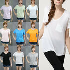New Fashion Women Ladies Short-sleeved V-neck Loose Cotton Trend T-shirts Blouse
