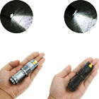 5W 300Lm CREE LED Flashlight Zoomable Torch Convex lens Light Lamp Black/ Silver