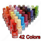 Non-toxic 42 Colors Quick-dry Nail Art Enamel Polish Pure Fragrant Varnish Brush