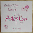 Handmade Personalised Adoption Card To the Child or To the Parent