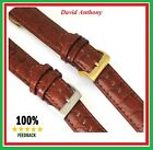 "18mm BROWN Leather Watch Strap, OPEN ENDED, Gents, ""ALL TIME BEST SELLING STRAP"""