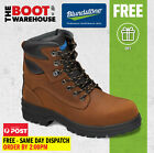 Blundstone Work Boots, 143, Lace Up, Steel Toe Safety. Water Resistant Leather