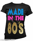 80`s slogan made in the 80`s ladies t shirt fancy dress hen