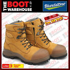 Blundstone 992 Steel Toe Safety Work Boots. Wheat, 150mm, Zip Side / Lace-up!