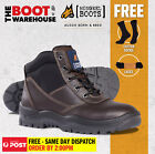 Mongrel 917030 Work Boots. Non Safety Footwear. Claret. Lace-Up. Brand New!
