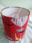 "8""/20CM MOBILES -SANDERSON 50s collection  FABRIC LAMPSHADE .(red)"