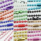 12 COLOR Wholesale Lots 10pcs Ball Metal 2.4mm Beads Chains Necklace Finding
