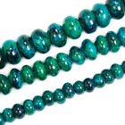 "Blue Chrysocolla Rondelle Beads 15.5"" 4x6mm 5x8mm 6x10mm Pick"