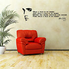 ELVIS PRESLEY QUOTE Walk A Mile In My Shoes VINYL WALL ART ROOM STICKER DECAL