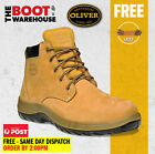 Oliver Work Boots 34632. Steel Toe Safety. 'Nubuck' Lace-Up Ankle Boots. New!