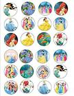 DISNEY PRINCESSES BIRTHDAY PARTY STICKER LABEL CUP CAKE TOPPER CHOCOLATE WRAPPER