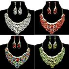 HOT Waterdrop Design Bridal Party Pageant Swarovski Crystal Earring Necklace Set