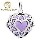 Silver Nets Heart Harmony Ball Pendant Cage H56 with Inner Bell Chic Jewelry