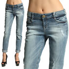 MOGAN Distressed SKINNY BOYFRIEND JEANS Ripped Slouchy Denim Pants