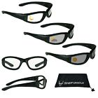 Motorcycle Transition Lens Biker Riding Sun Glasses Day Night Foam Padded Mens