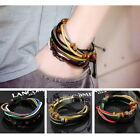 1 pcs Women Unisex Wrap Multilayer Synthetic Leather Ropes Little Beads Bracelet