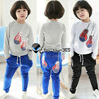 Autumn Boys Child Baby Kids Boxing Gloves Long Sleeve T-shirt&Trousers Sets 2-7Y