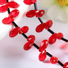 20pcs/140pcs red water-drop bright Beads Faceted Glass Crystal Spacer Bead N8692