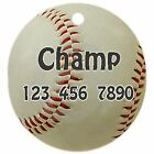 Personalized Custom Pet Dog Cat Tag ID Baseball Sport Fun Unique Any name Text