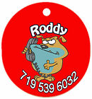 Personalized Custom Pet Dog Cat Tag ID Funny Dog making phone call Any name Text