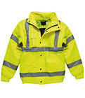 Kids Hi Vis Waterproof Bomber Jacket High Viz Visibility Safety