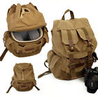 Waterproof Canvas DSLR Canon Nikon Sony Panasonic Camera Shoulder Rucksack Bag