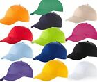 6 x US BASIC 100% COTTON BASEBALL CAP HAT 8 COLOURS FAST DAILY DISPATCH