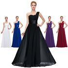 Purple Long Bridesmaid Wedding Party Ball Gown Prom Cocktail Evening Dress PLUS