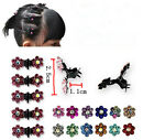 6pcs Women&Girl Rhinestone crystal  Hair Claw Hairclips Bridal Wedding Party